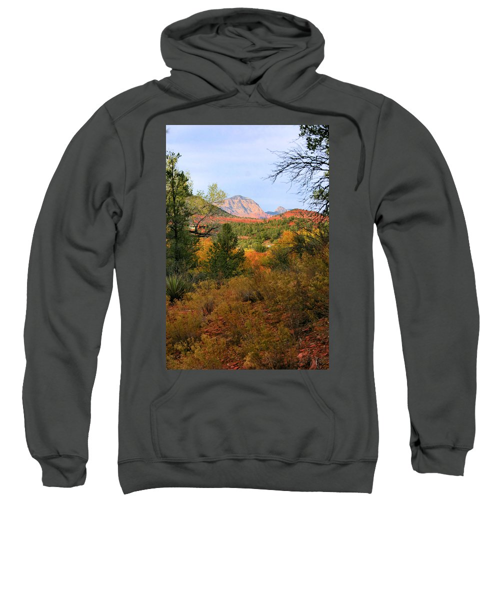 Red Rock Sweatshirt featuring the photograph Autumn In Red Rock Canyon by Kristin Elmquist