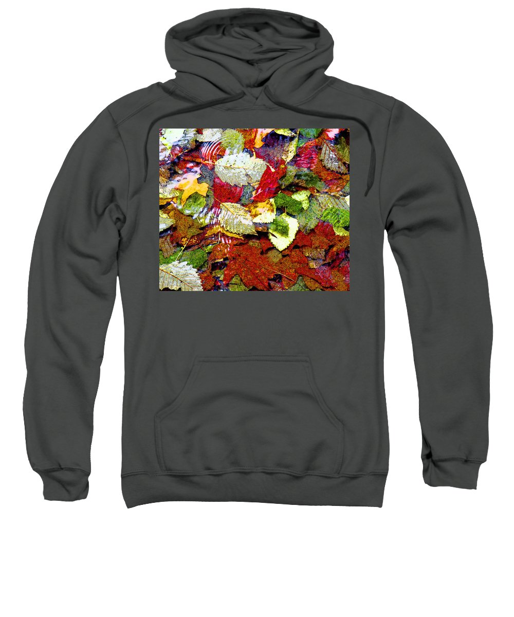 Autumn Leaves Print Sweatshirt featuring the photograph Autumn In Water by Marie Jamieson
