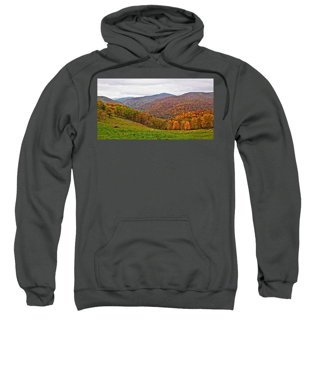 West Virginia Sweatshirt featuring the photograph Autumn Song by Steve Harrington