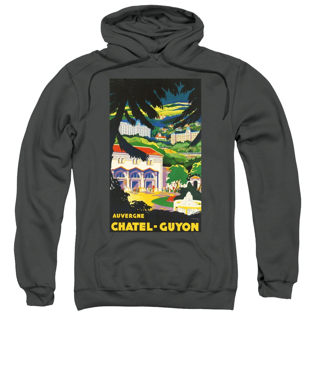 Agriculture Sweatshirt featuring the digital art Auvergne France by Georgia Fowler