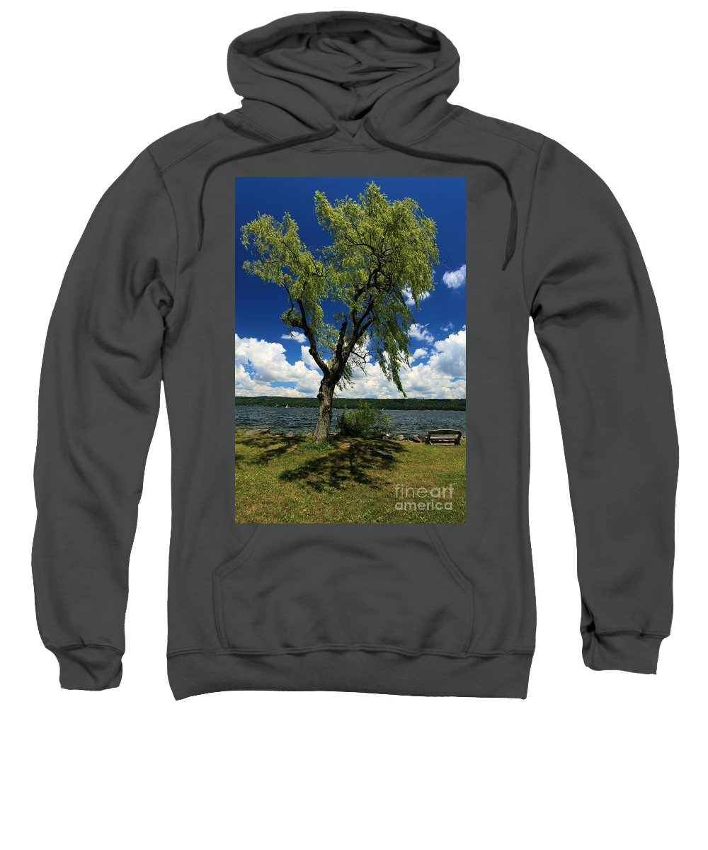 Taughannock Falls State Park Sweatshirt featuring the photograph Away From The City by Adam Jewell