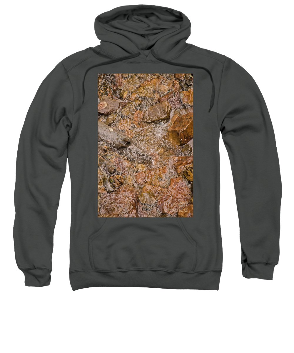 Water Sweatshirt featuring the photograph Babbling Brook by Donna Greene