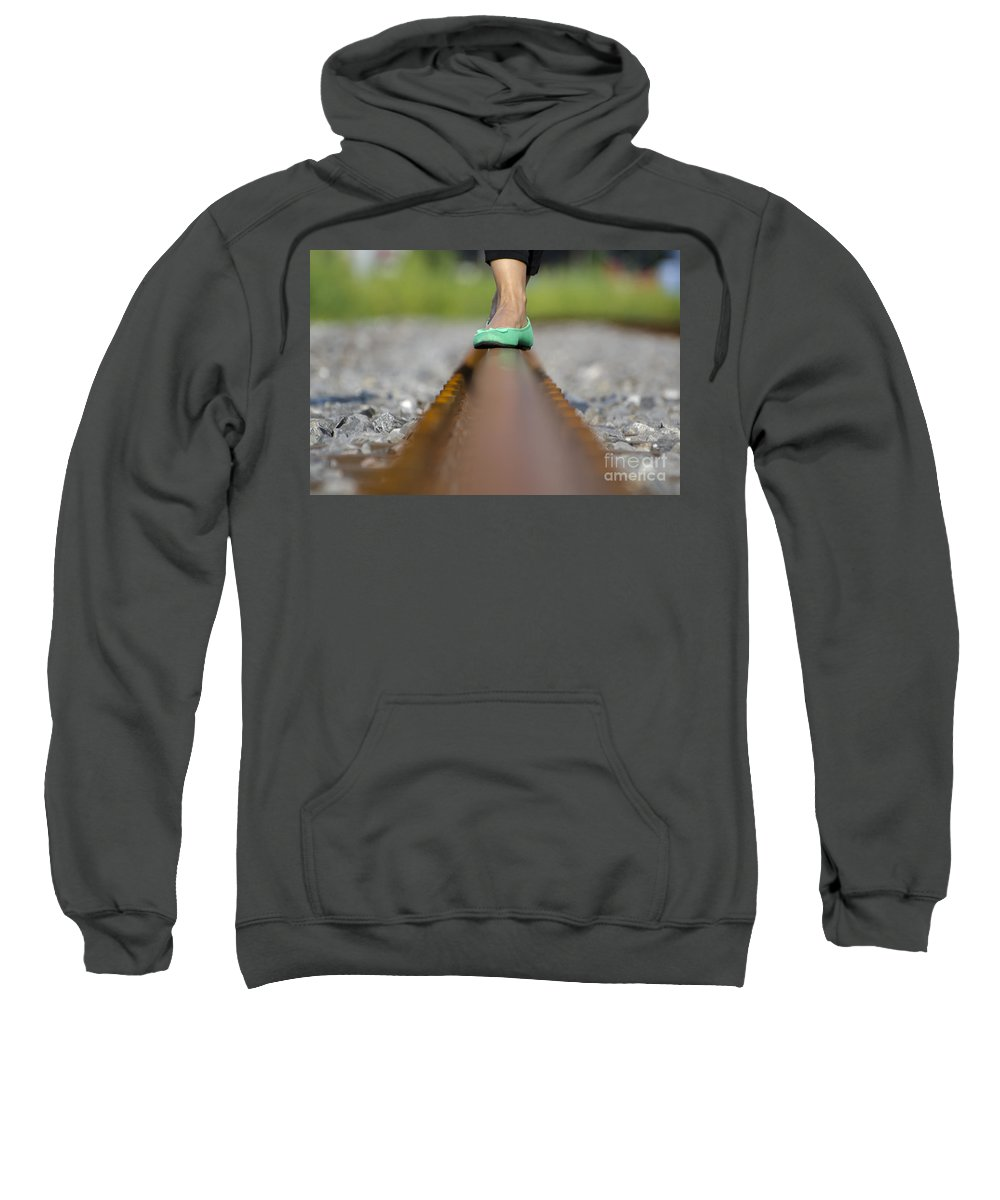 Shoes Sweatshirt featuring the photograph Balance With Her Feet by Mats Silvan
