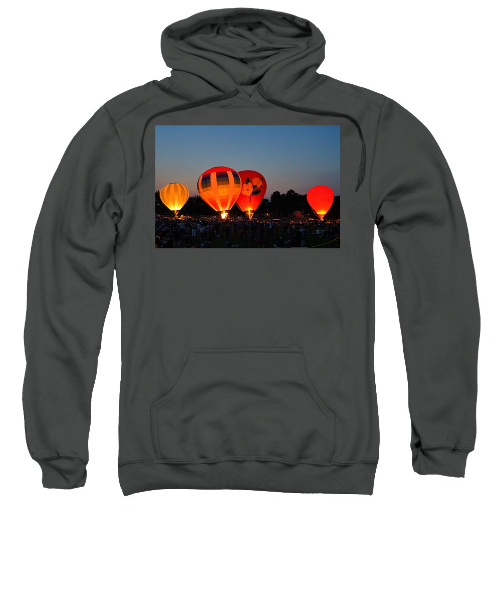 Seymour Sweatshirt featuring the photograph Balloon Glow 1 by Bill Pevlor