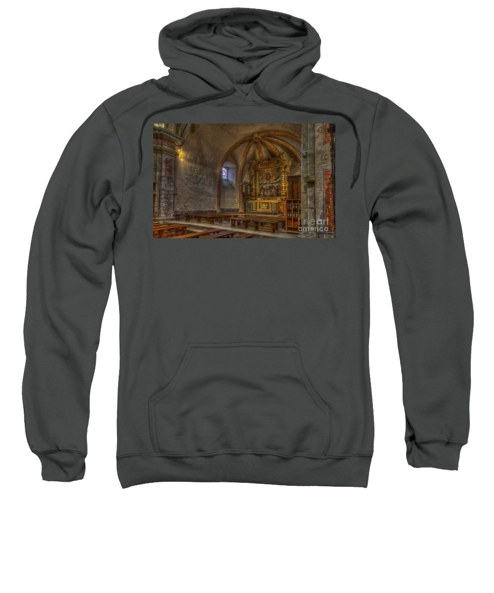 Clare Bambers Sweatshirt featuring the photograph Baroque Church In Savoire France 3 by Clare Bambers