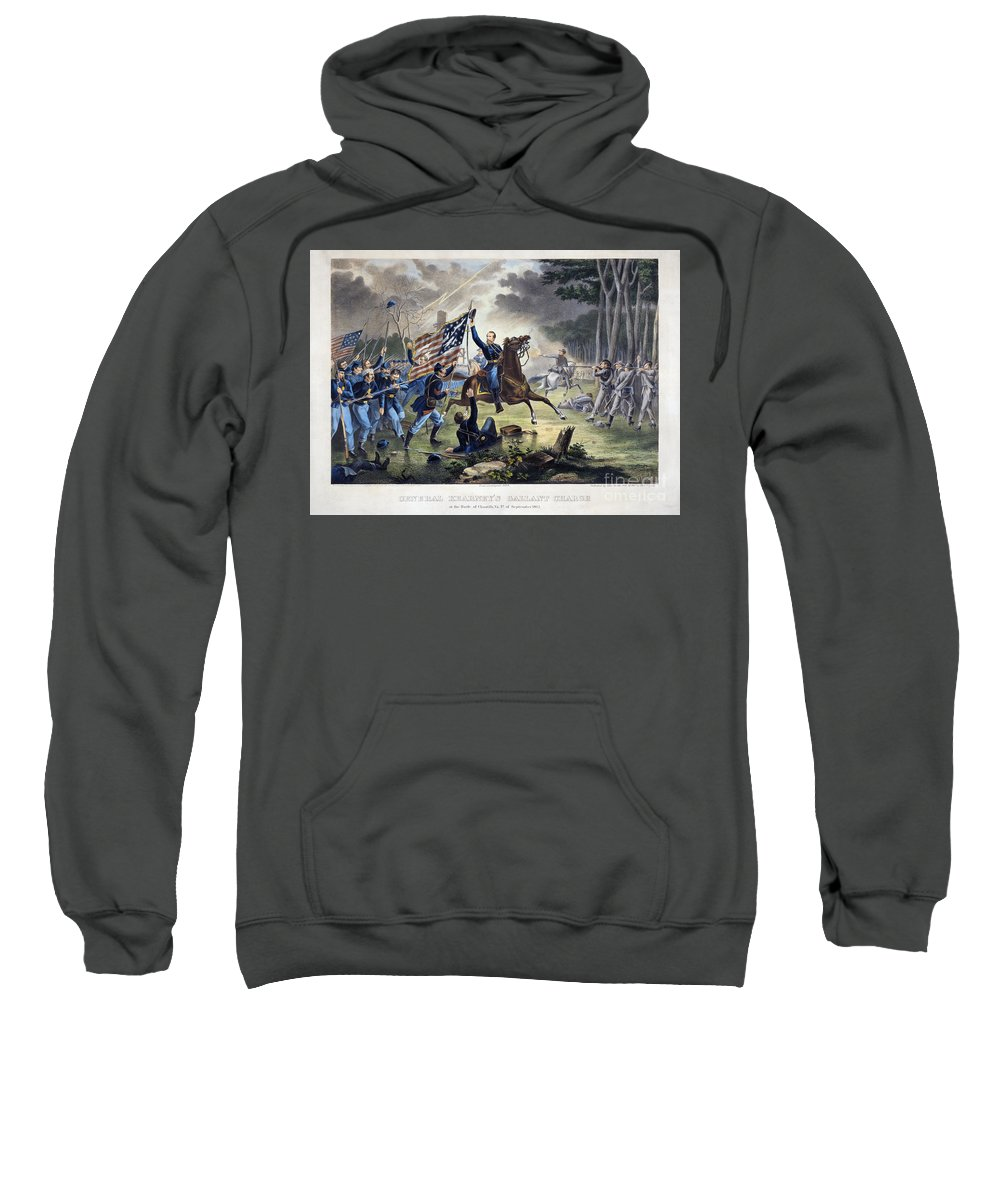 1862 Sweatshirt featuring the photograph Battle Of Chantlly, 1862 by Granger