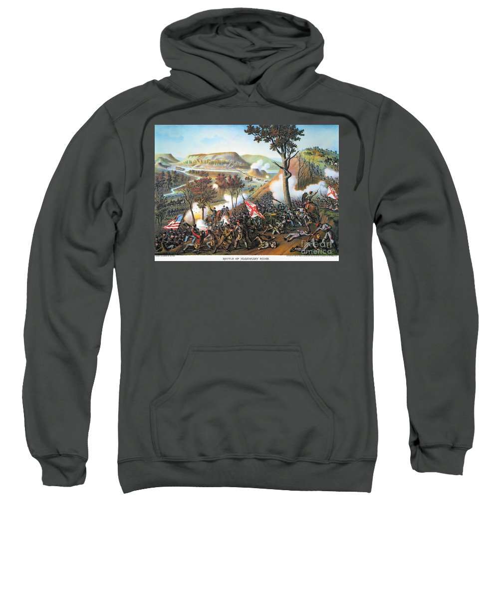 1863 Sweatshirt featuring the photograph Battle Of Missionary Ridge by Granger