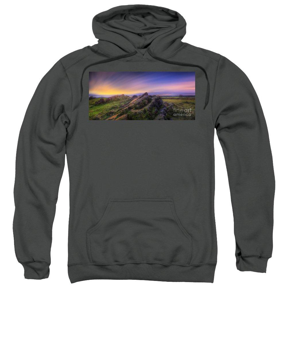 Panorama Sweatshirt featuring the photograph Beacon Hill Sunrise 7.0 by Yhun Suarez