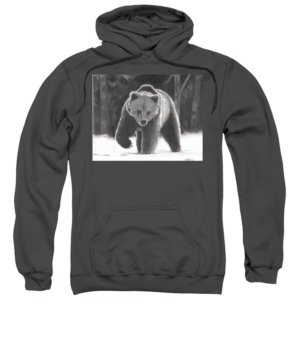Bear Sweatshirt featuring the drawing Bear Necessities by Christian Conner
