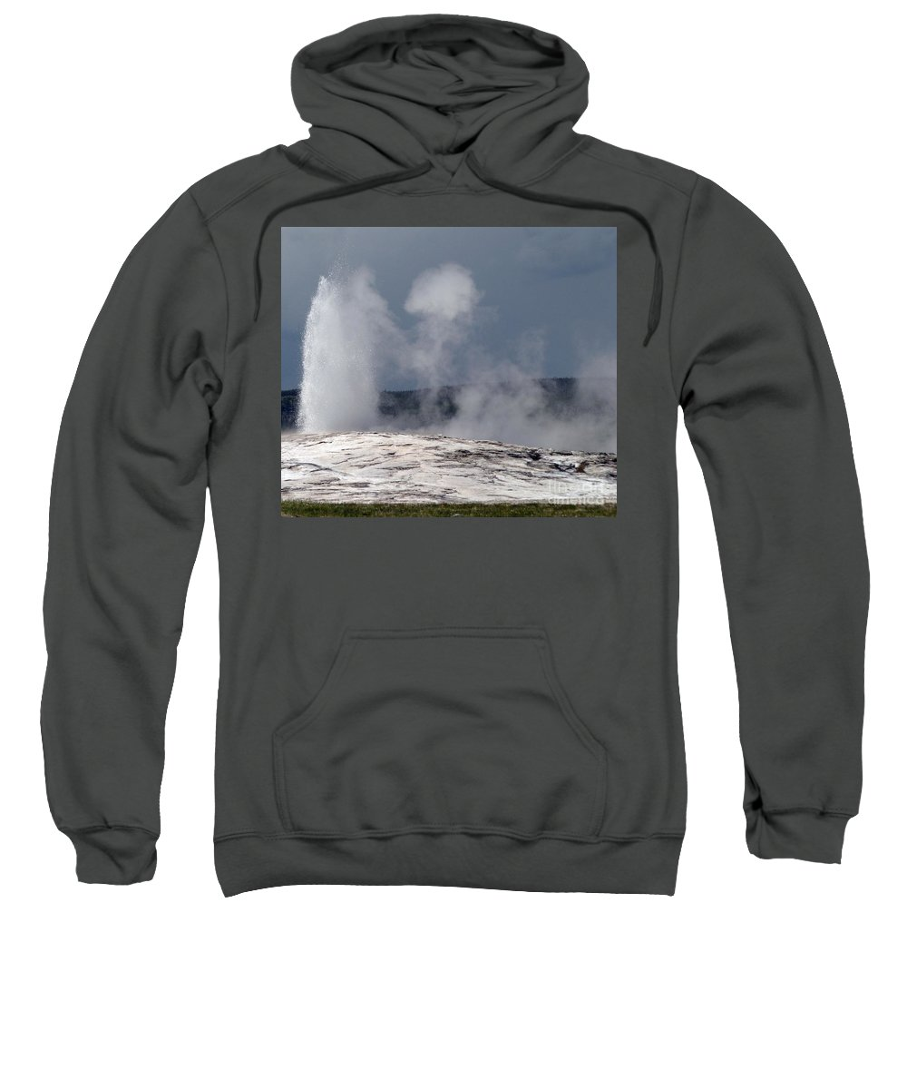 Old Faithful Sweatshirt featuring the photograph Beautiful Old Faithful by Living Color Photography Lorraine Lynch