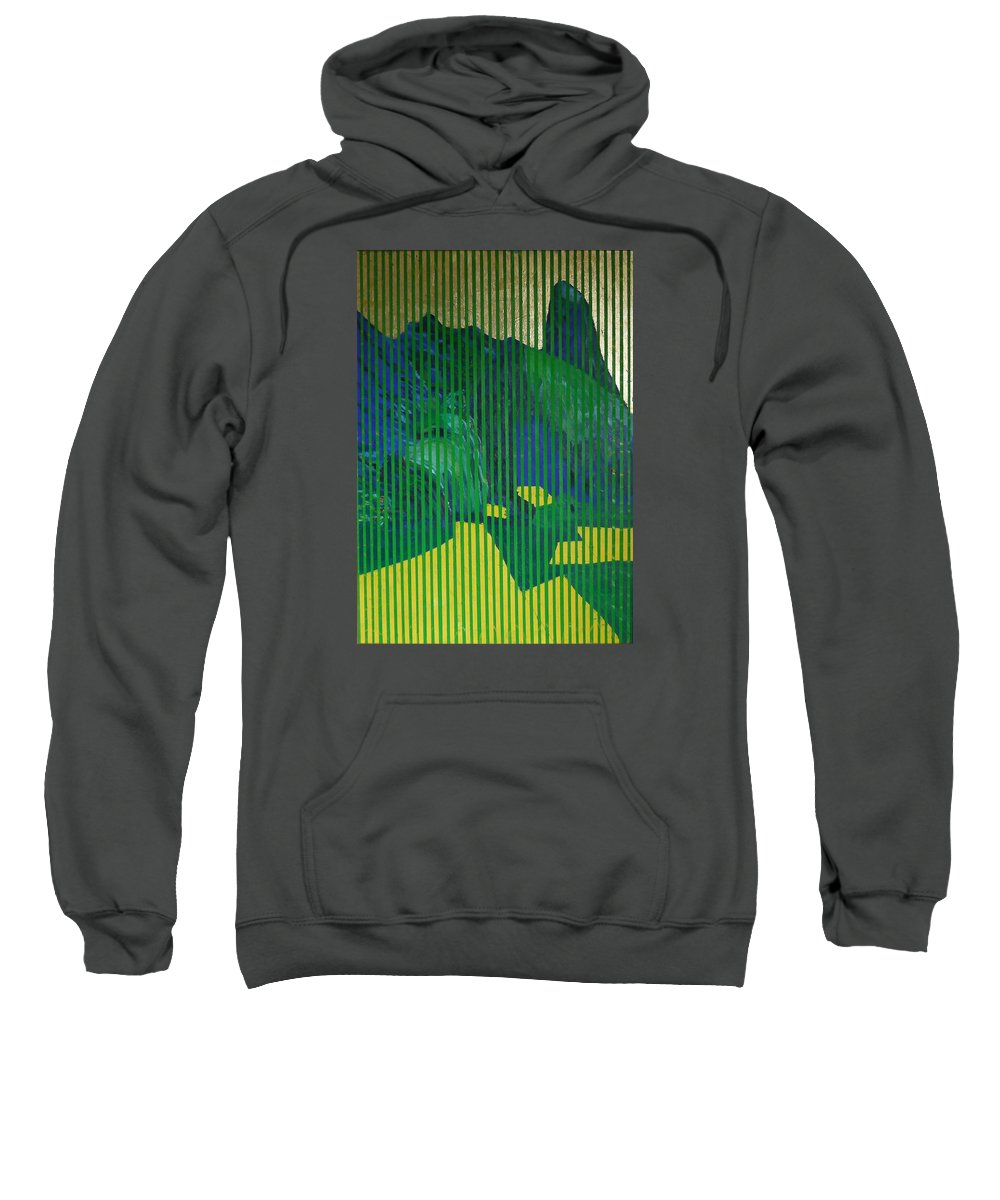 Sweatshirt featuring the painting Behind the Blinds by Jarle Rosseland