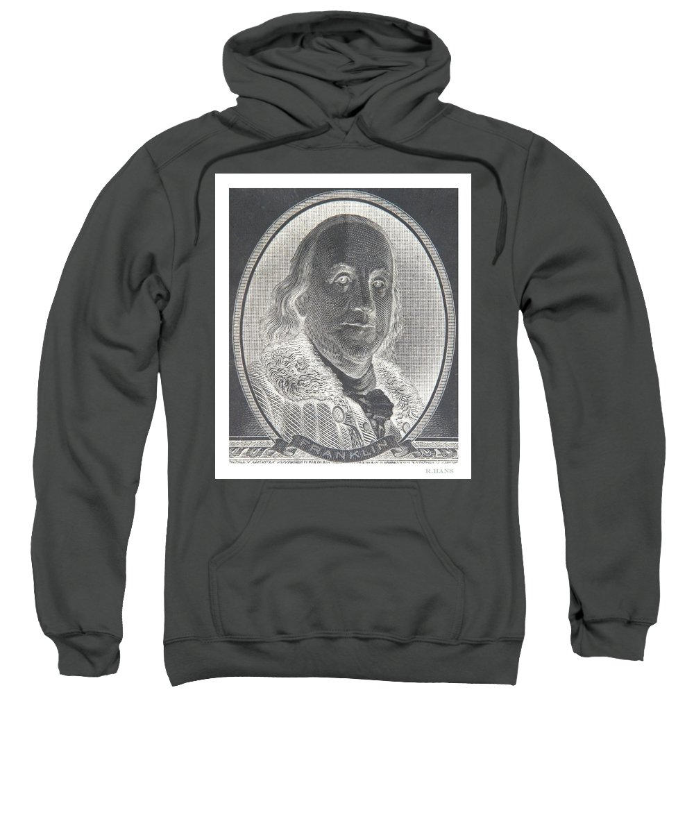 Ben Franklin Sweatshirt featuring the photograph Ben Franklin In Negative by Rob Hans