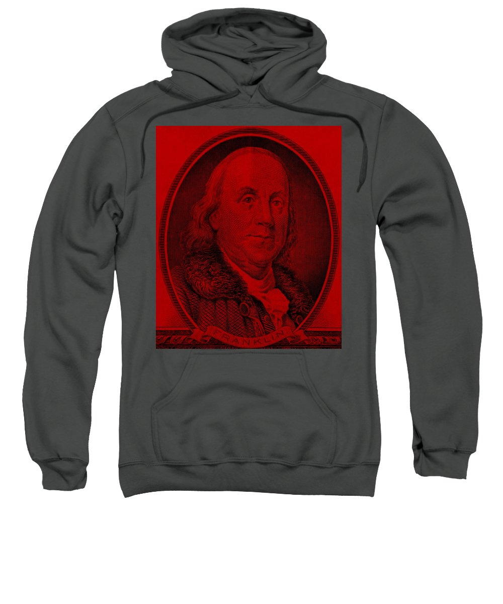 Ben Franklin Sweatshirt featuring the photograph Ben Franklin In Red by Rob Hans