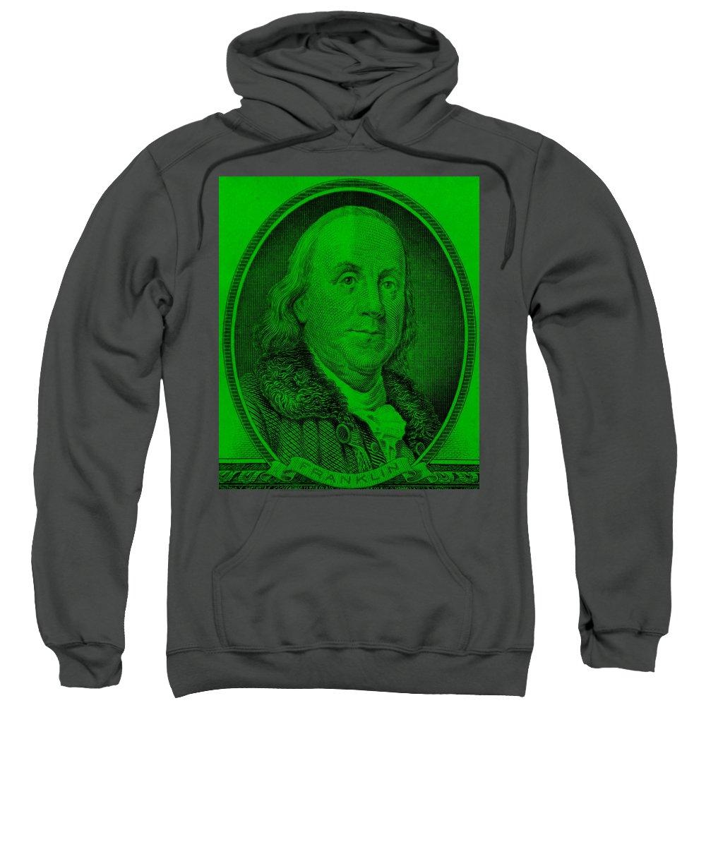 Ben Franklin Sweatshirt featuring the photograph Ben Franklin Ingreen by Rob Hans