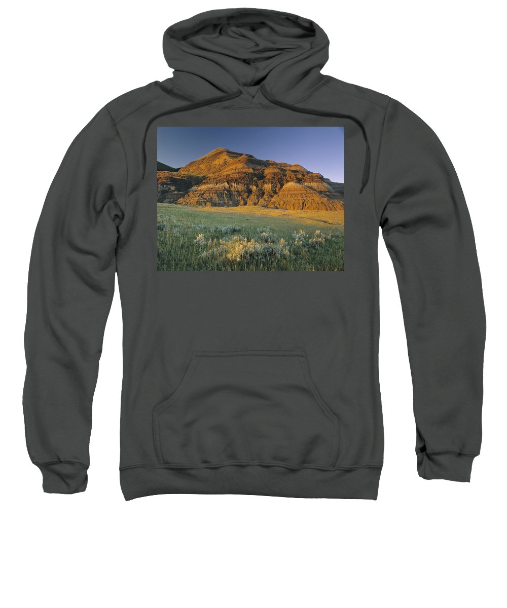 Light Sweatshirt featuring the photograph Big Muddy Badlands, Saskatchewan, Canada by Darwin Wiggett