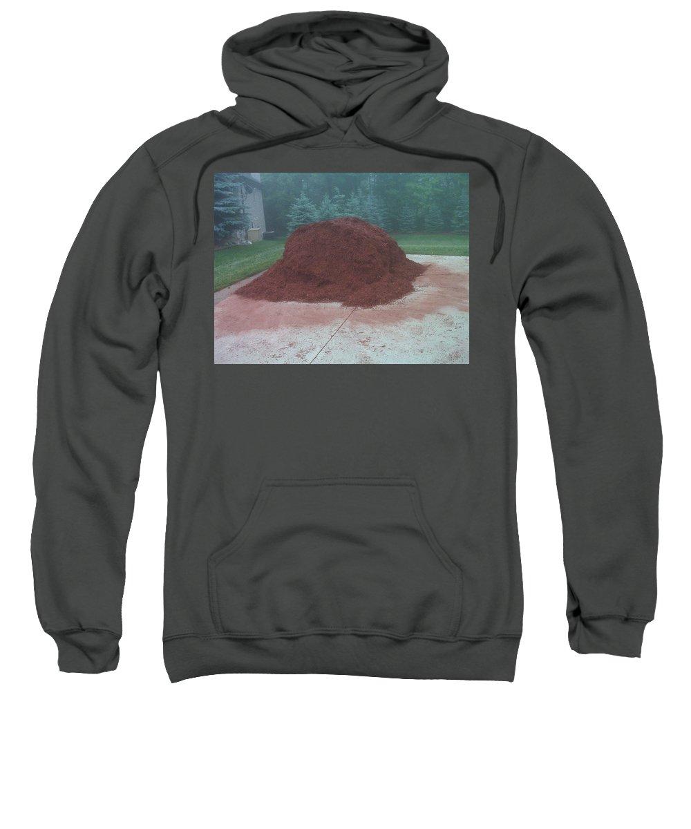 Usa Sweatshirt featuring the photograph Big Pile Of Mulch Time by LeeAnn McLaneGoetz McLaneGoetzStudioLLCcom