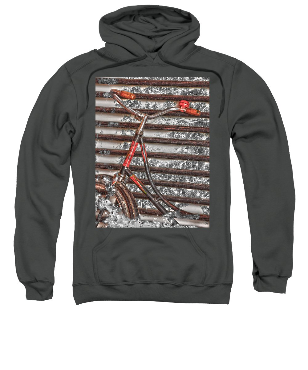 Jerry Cordeiro Framed Prints Sweatshirt featuring the photograph Bikelock by The Artist Project