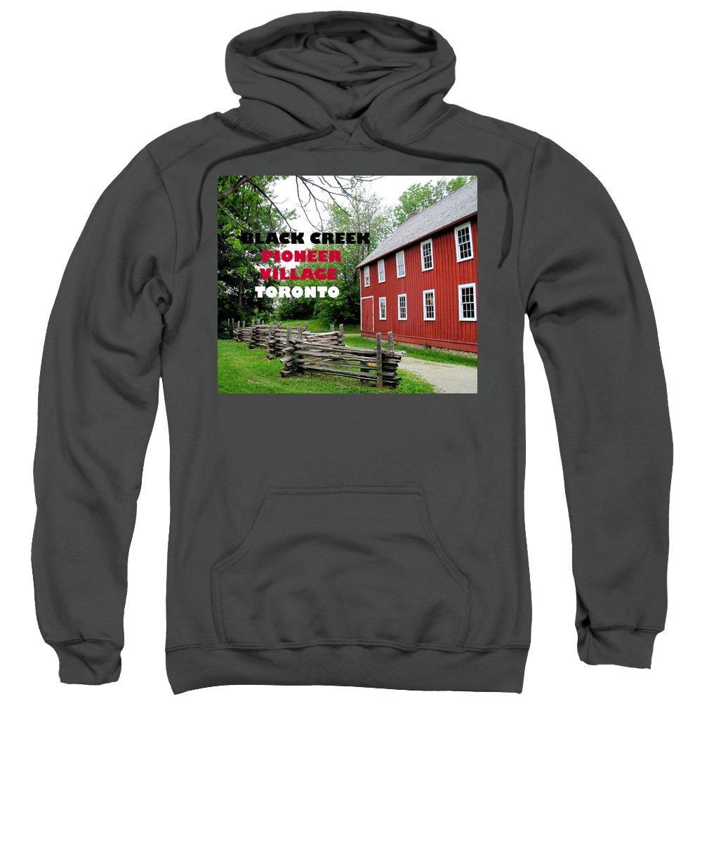 Black Creek Sweatshirt featuring the photograph Black Creek Poster by Ian MacDonald
