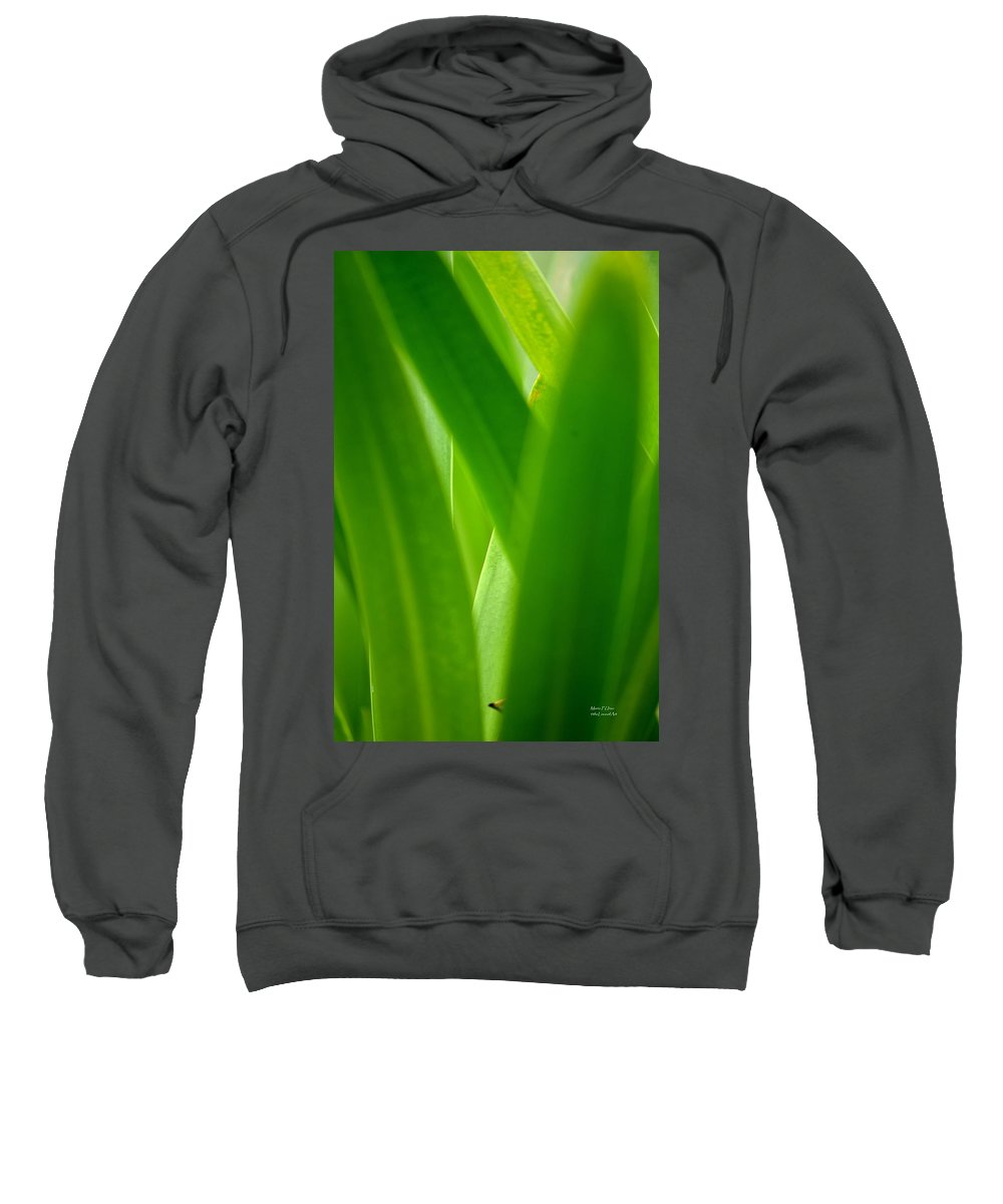 Blinding Sweatshirt featuring the photograph Blinding Green by Maria Urso