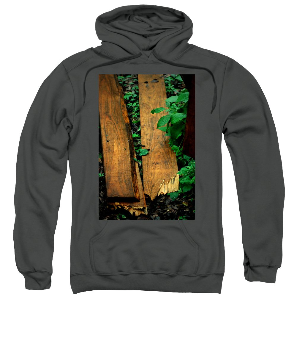Fence Sweatshirt featuring the photograph Board Meeting by David Weeks