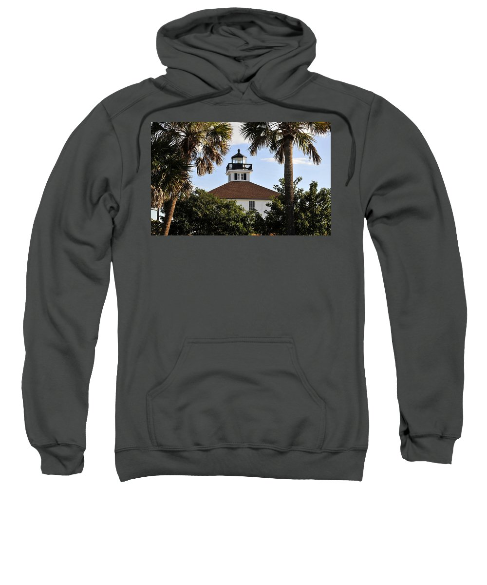 Fine Art Photography Sweatshirt featuring the photograph Boca House Of Lights by David Lee Thompson