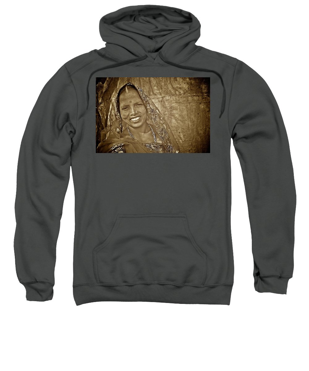Women Sweatshirt featuring the photograph Bodhgaya Bride by Valerie Rosen