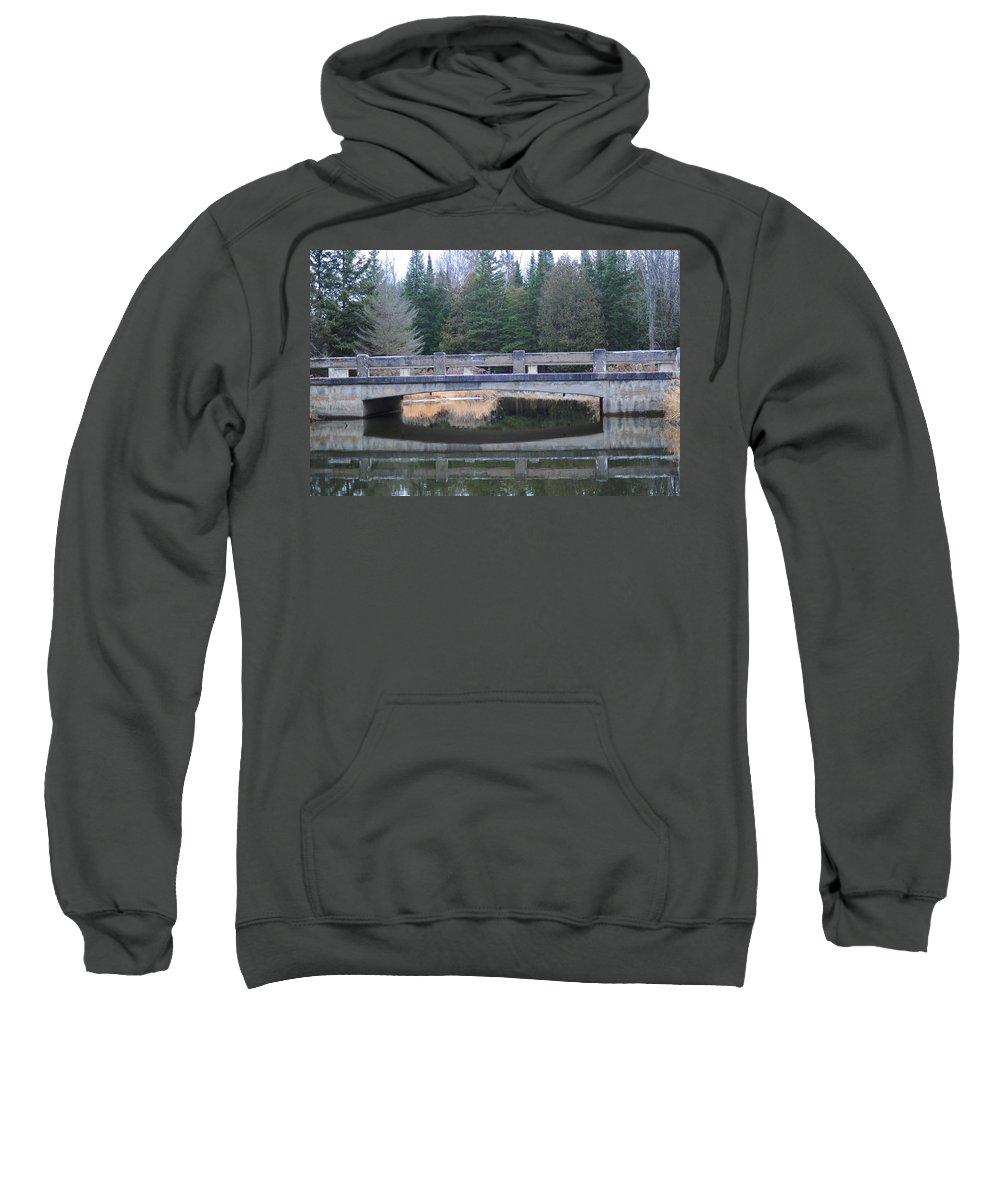 Bridge Sweatshirt featuring the photograph Bridge Reflection by Elaine Mikkelstrup