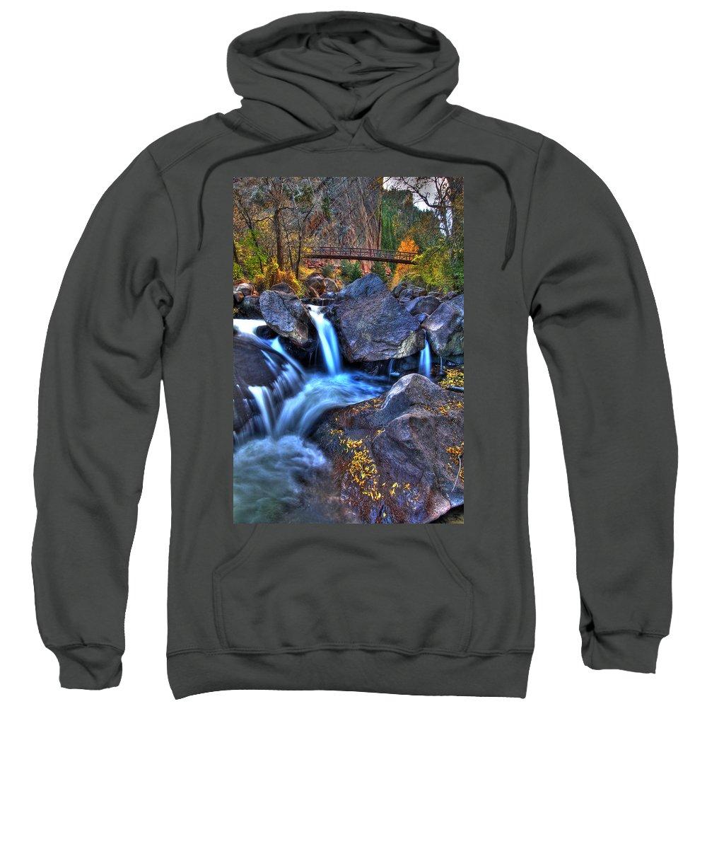 Landscape Sweatshirt featuring the photograph Bridge To The Seasons by Scott Mahon