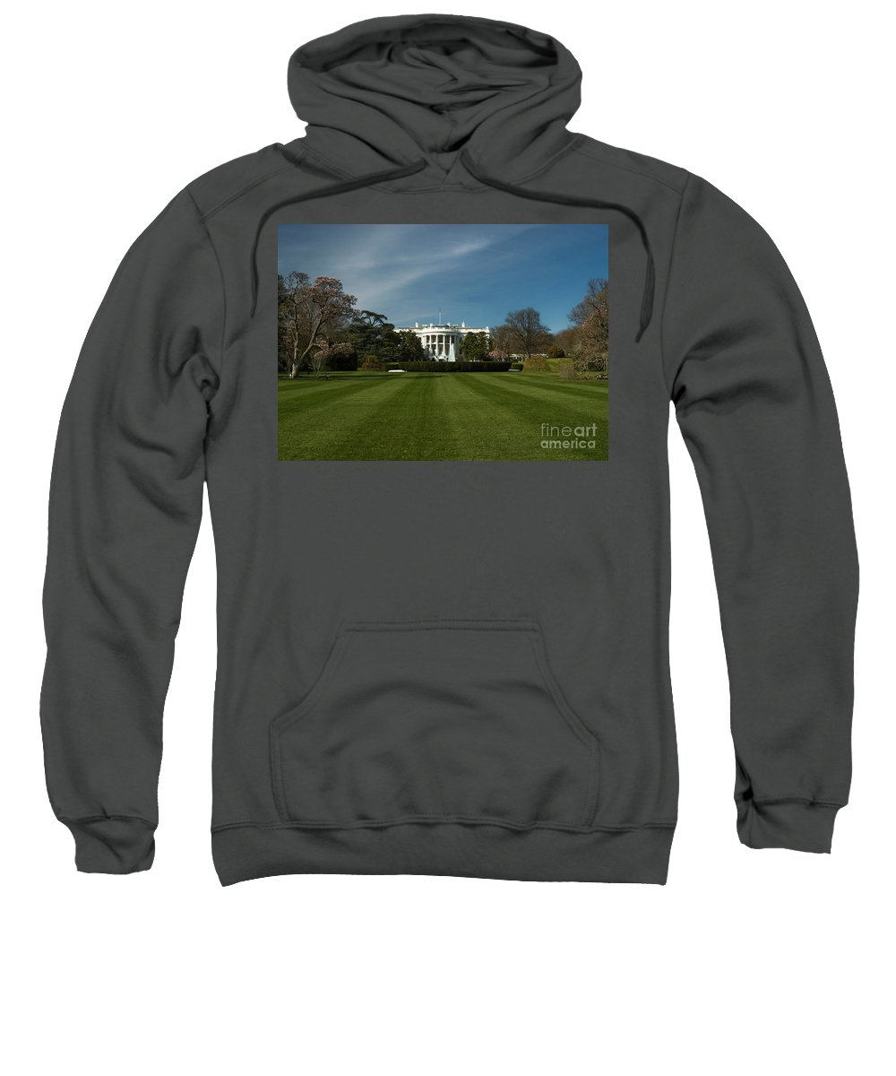 Washington Dc Sweatshirt featuring the photograph Bright Spring Day At The White House by Tim Mulina