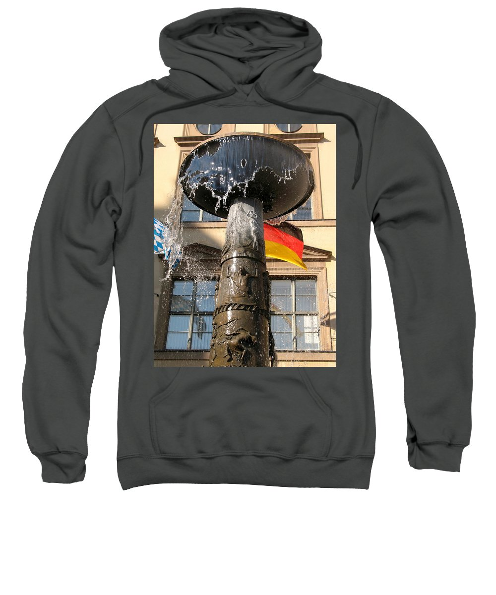 Fountain Sweatshirt featuring the photograph Bronze Fountain by Christiane Schulze Art And Photography
