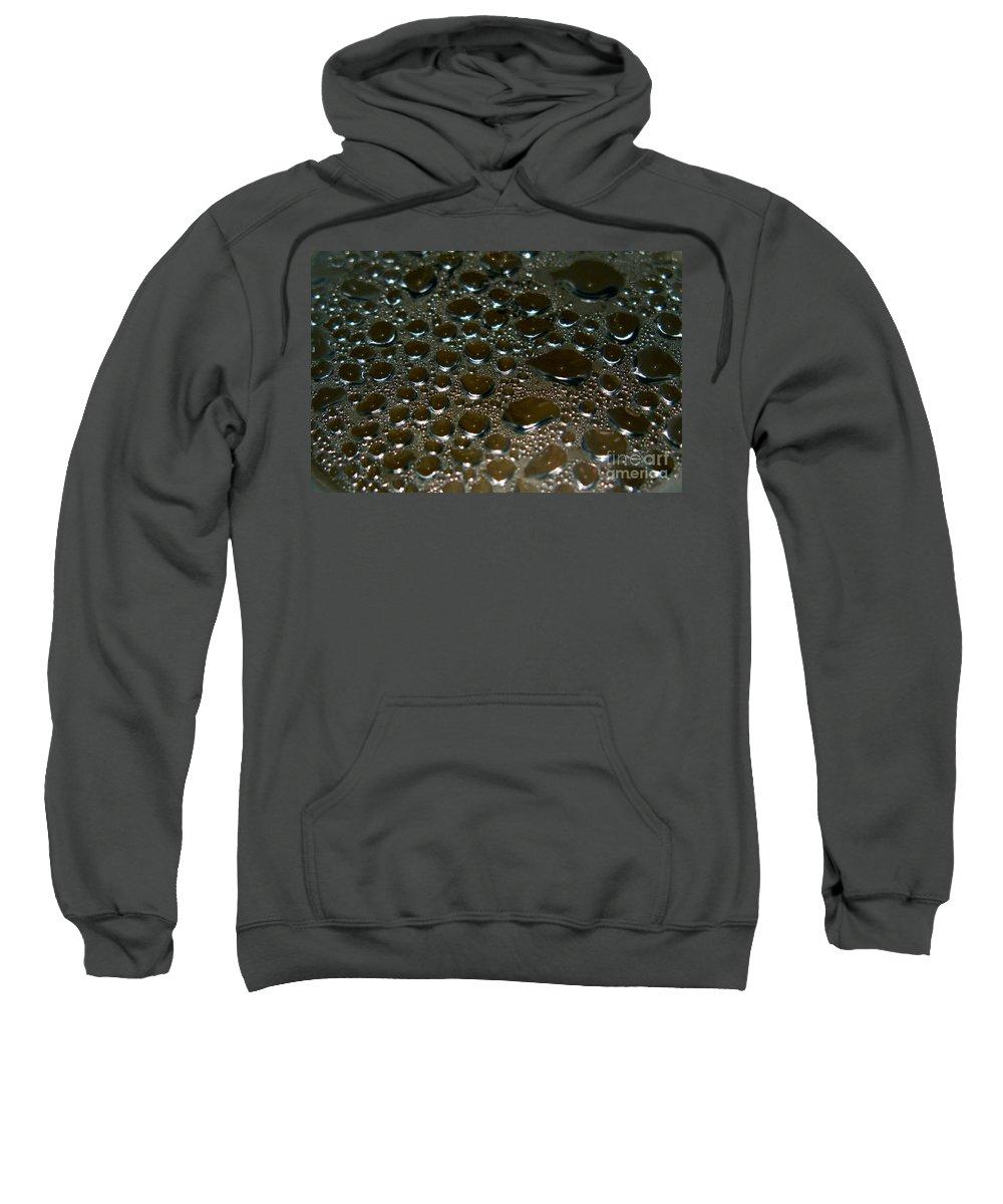 Bubble Sweatshirt featuring the photograph Bubbles Of Steam Black by Ausra Huntington nee Paulauskaite