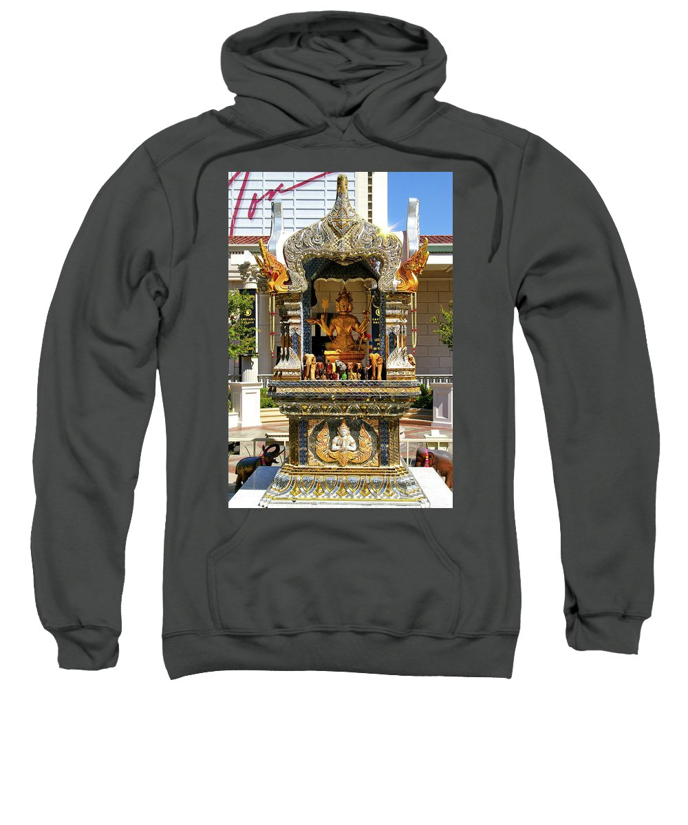 Buddha Statue Sweatshirt featuring the photograph Buddha Shrine by Mariola Bitner