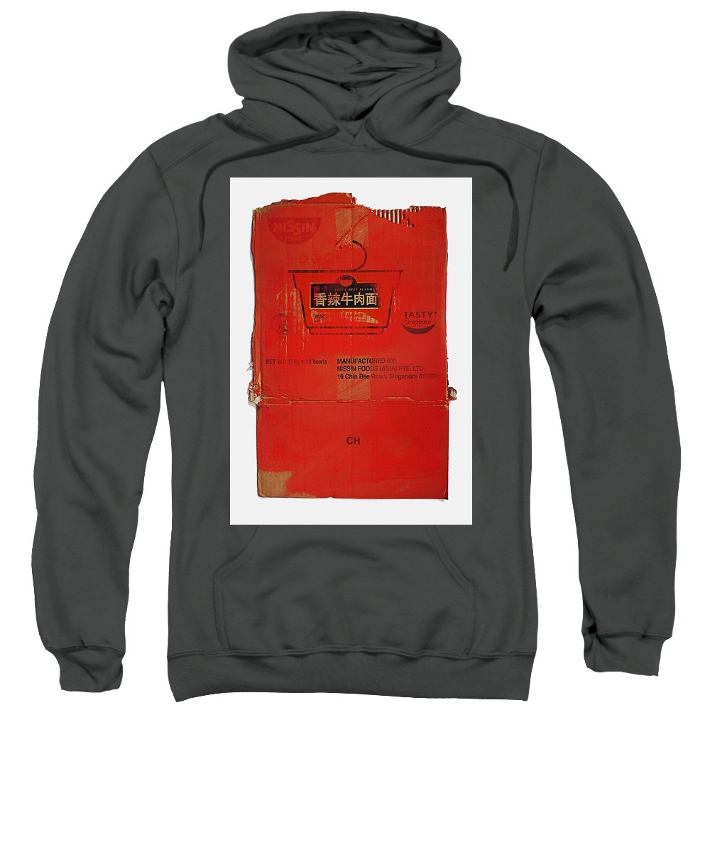 Nissin Sweatshirt featuring the painting Calculator by Charles Stuart