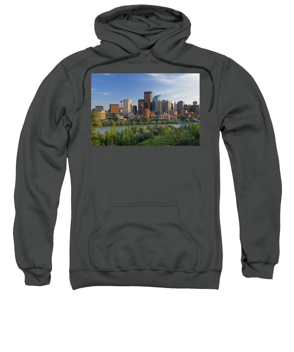 Skyscrapers Sweatshirt featuring the photograph Calgary, Alberta, Canada by Philippe Widling