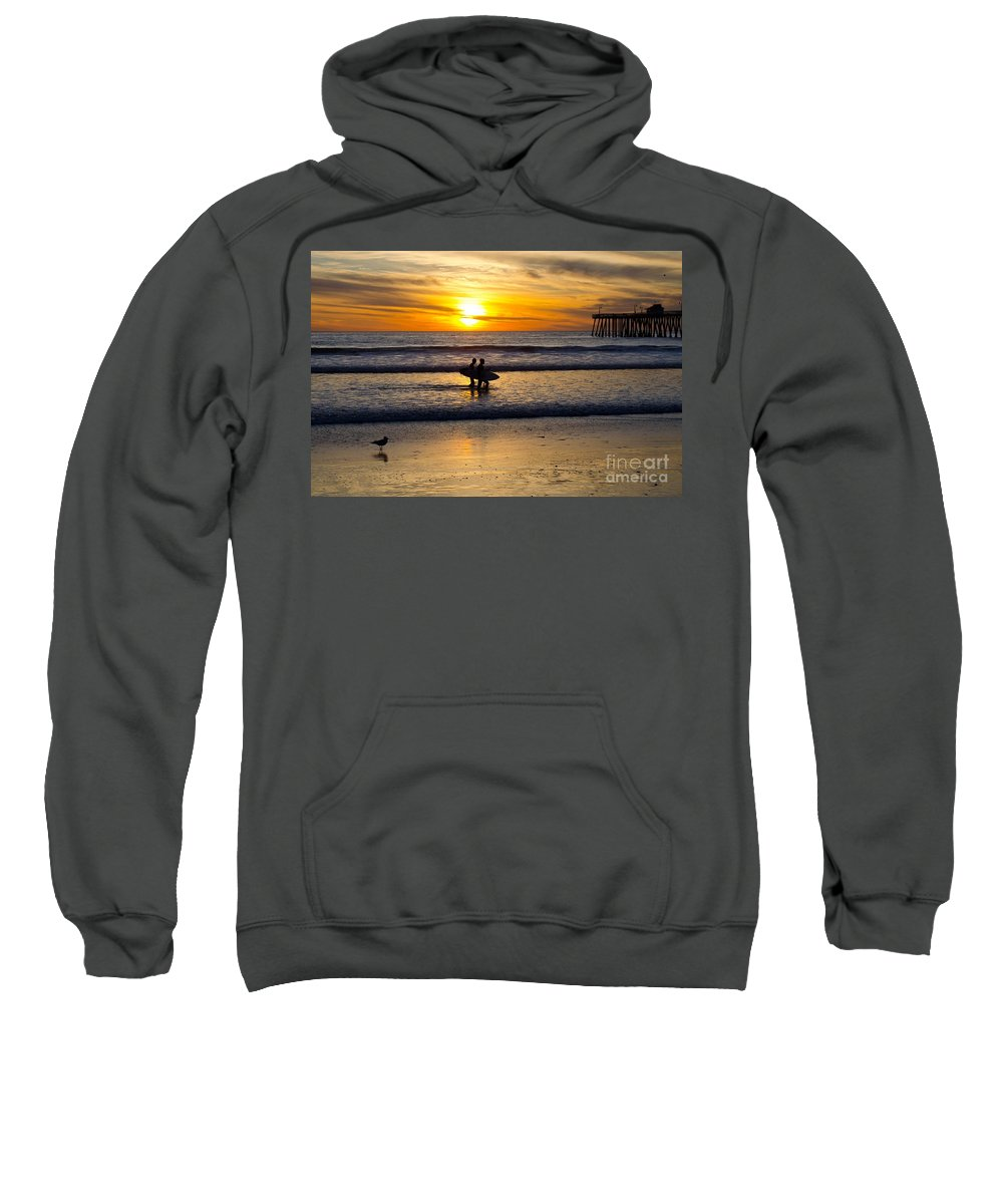 Sunset Sweatshirt featuring the photograph Calm Waters by Athena Lin