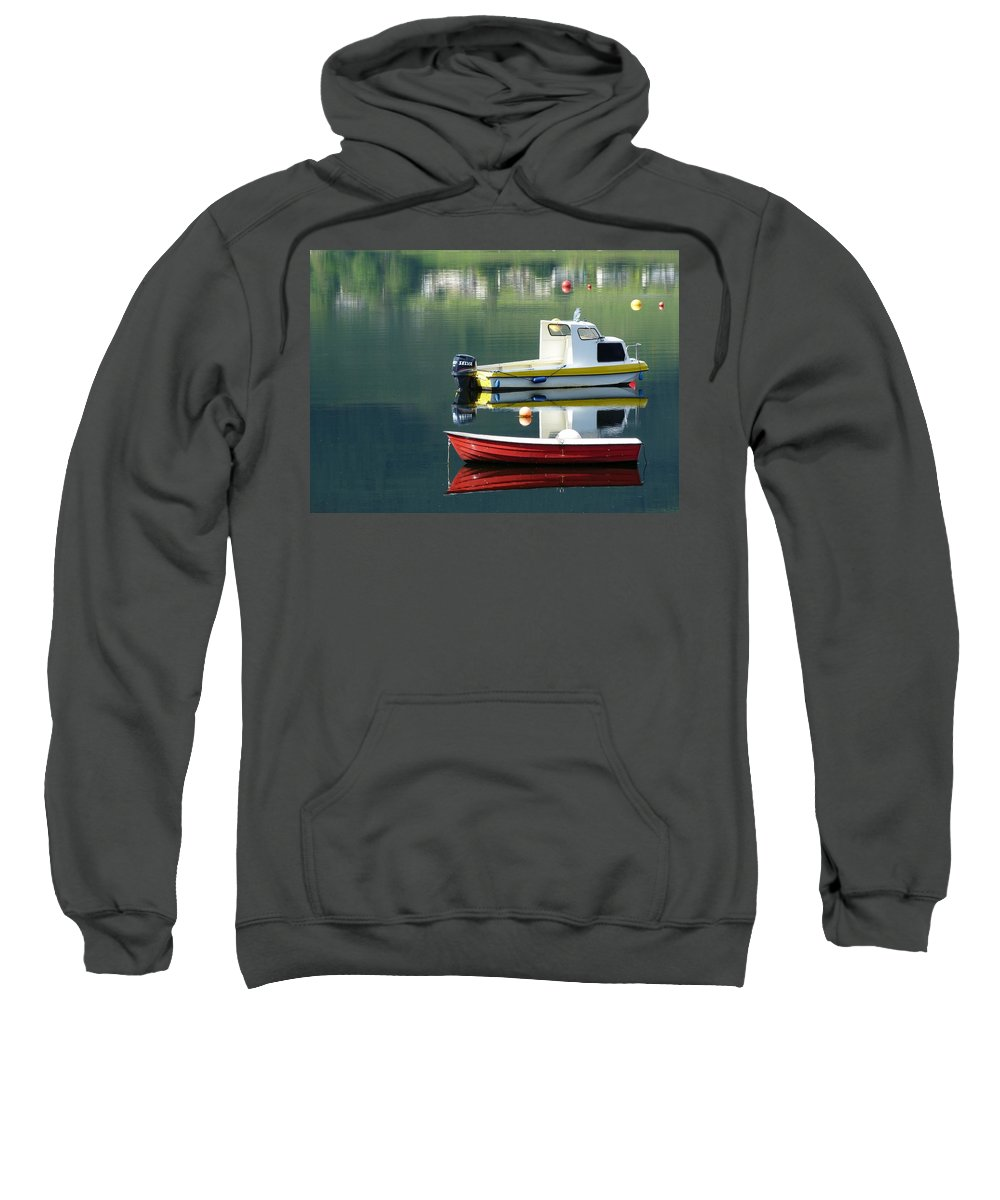 Rowing Sweatshirt featuring the photograph Calm Waters by Lynn Bolt
