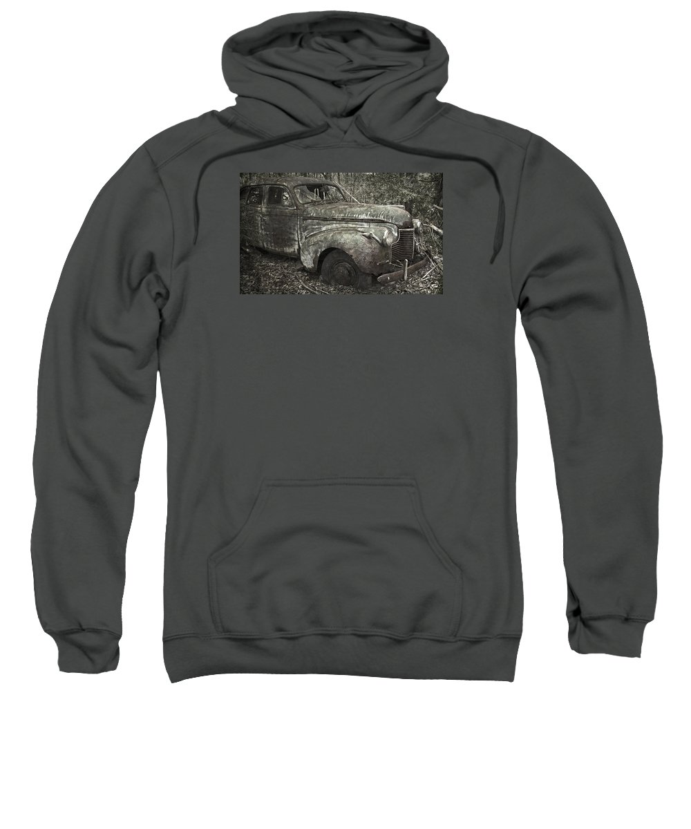 Rustbuckets Sweatshirt featuring the photograph Camouflage Classic Car by John Stephens