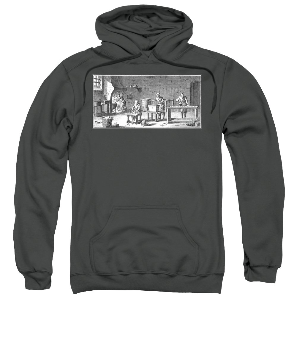 18th Century Sweatshirt featuring the photograph Candlemaking, 18th Century by Granger