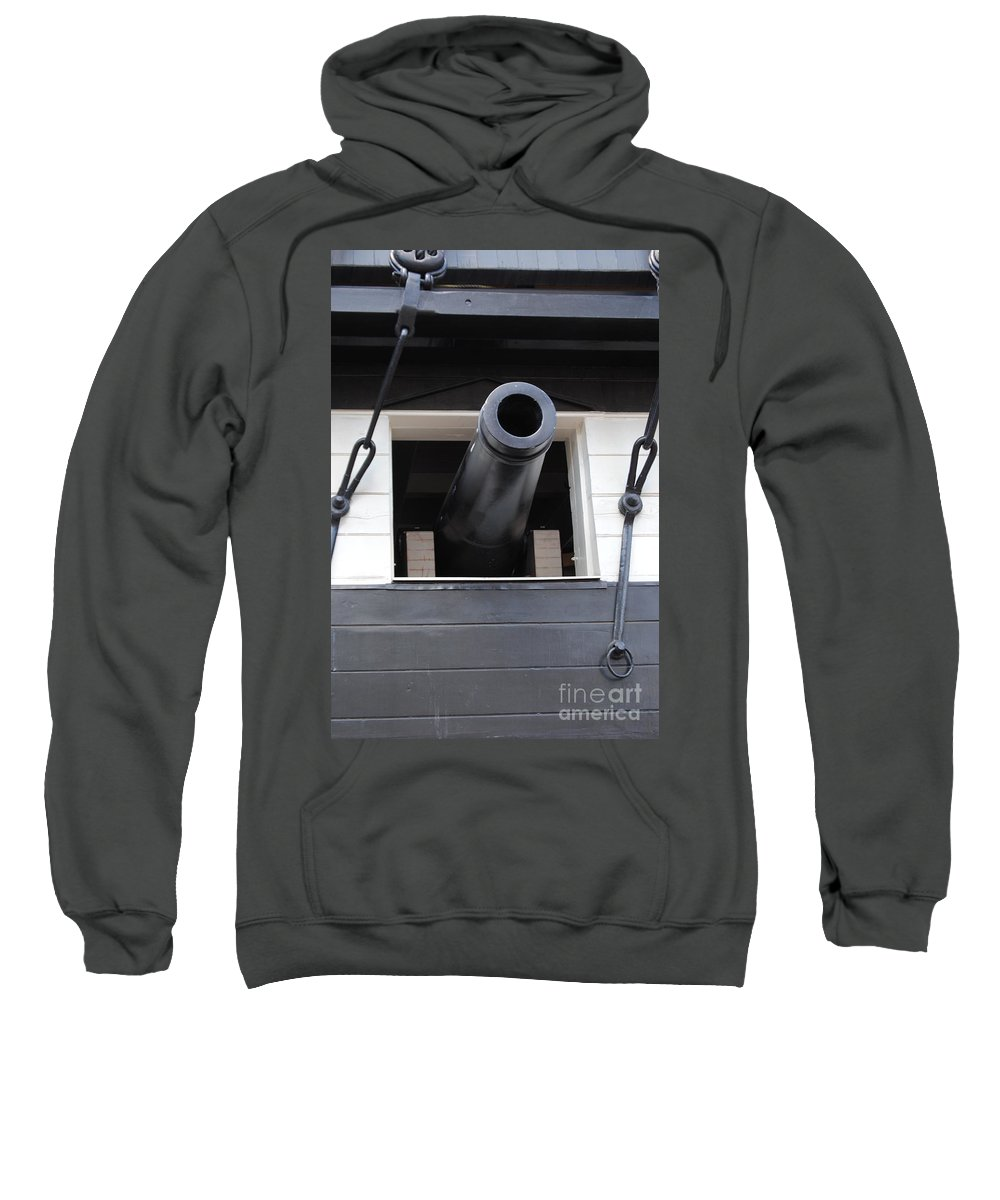 Cannons Sweatshirt featuring the photograph Cannons Uss Constellation by Jost Houk