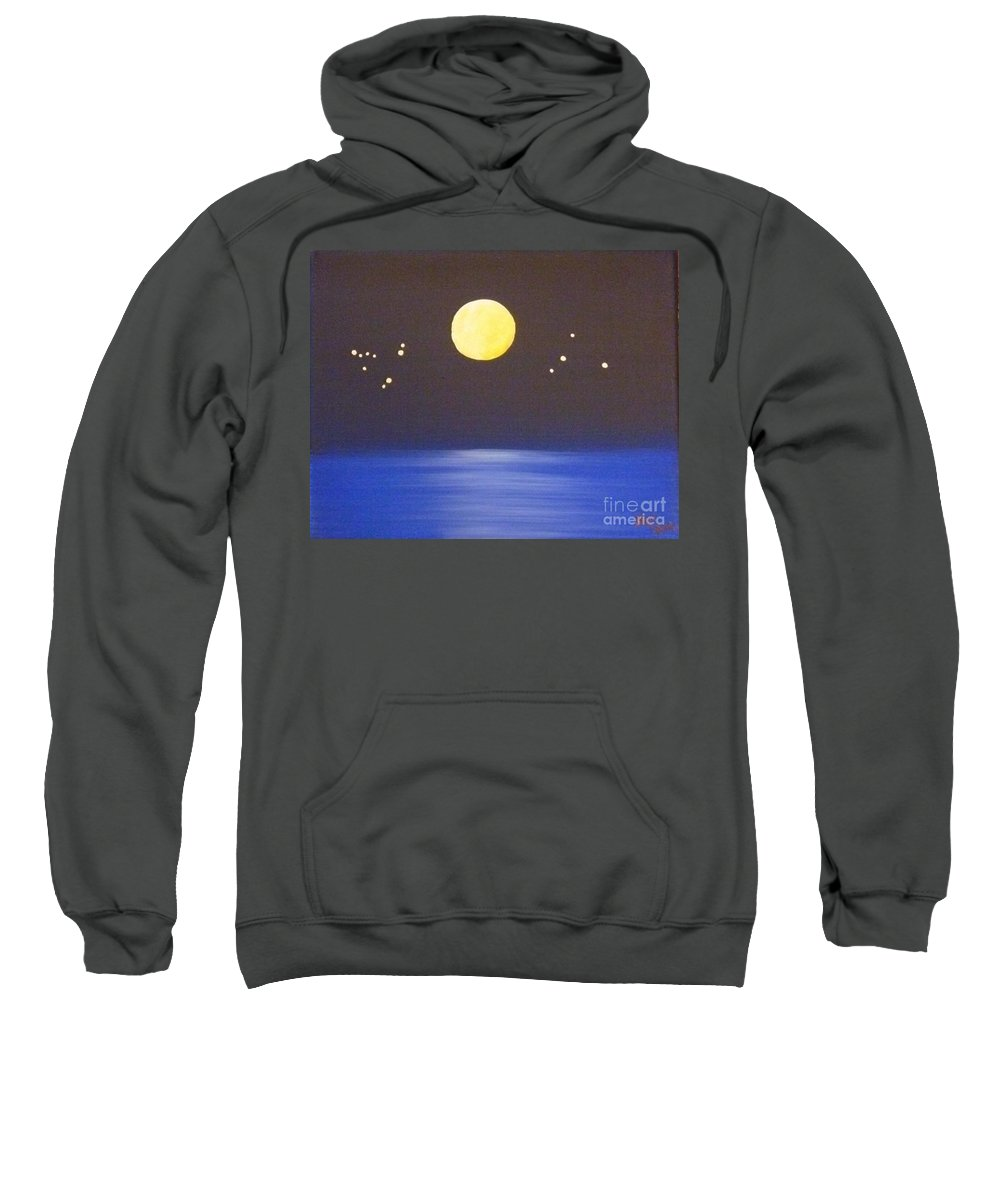 Destiny Sweatshirt featuring the painting Capricorn And Libra by Alys Caviness-Gober