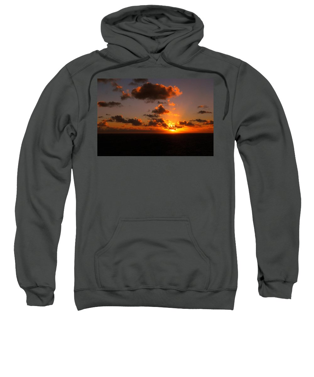 Sunset Sweatshirt featuring the photograph Caribbean Sunset by Gary Wonning