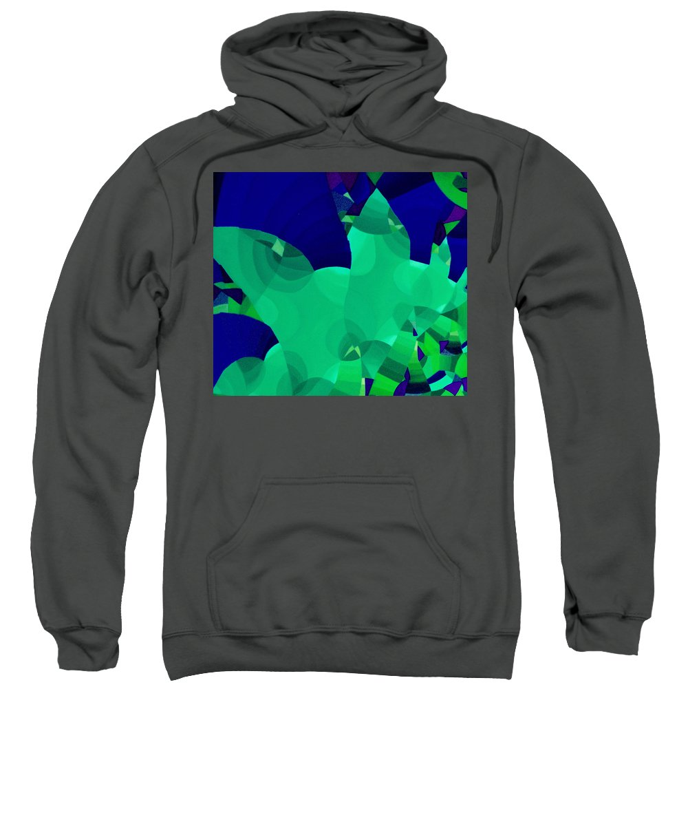Australian Sweatshirt featuring the painting Carnivale 3 by Giro Tavitian