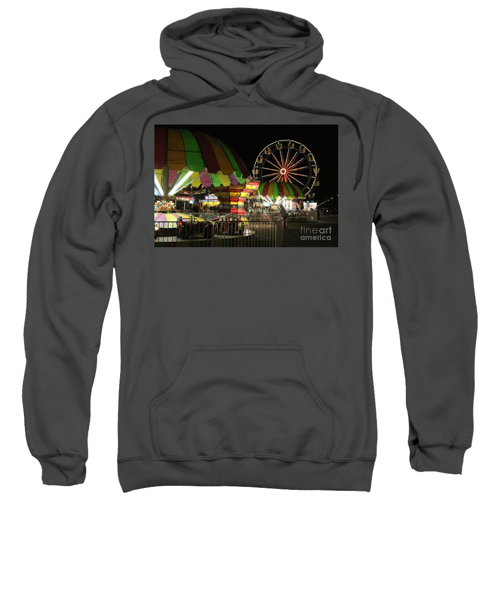 Carnival Sweatshirt featuring the photograph Carousel Colors by Alycia Christine