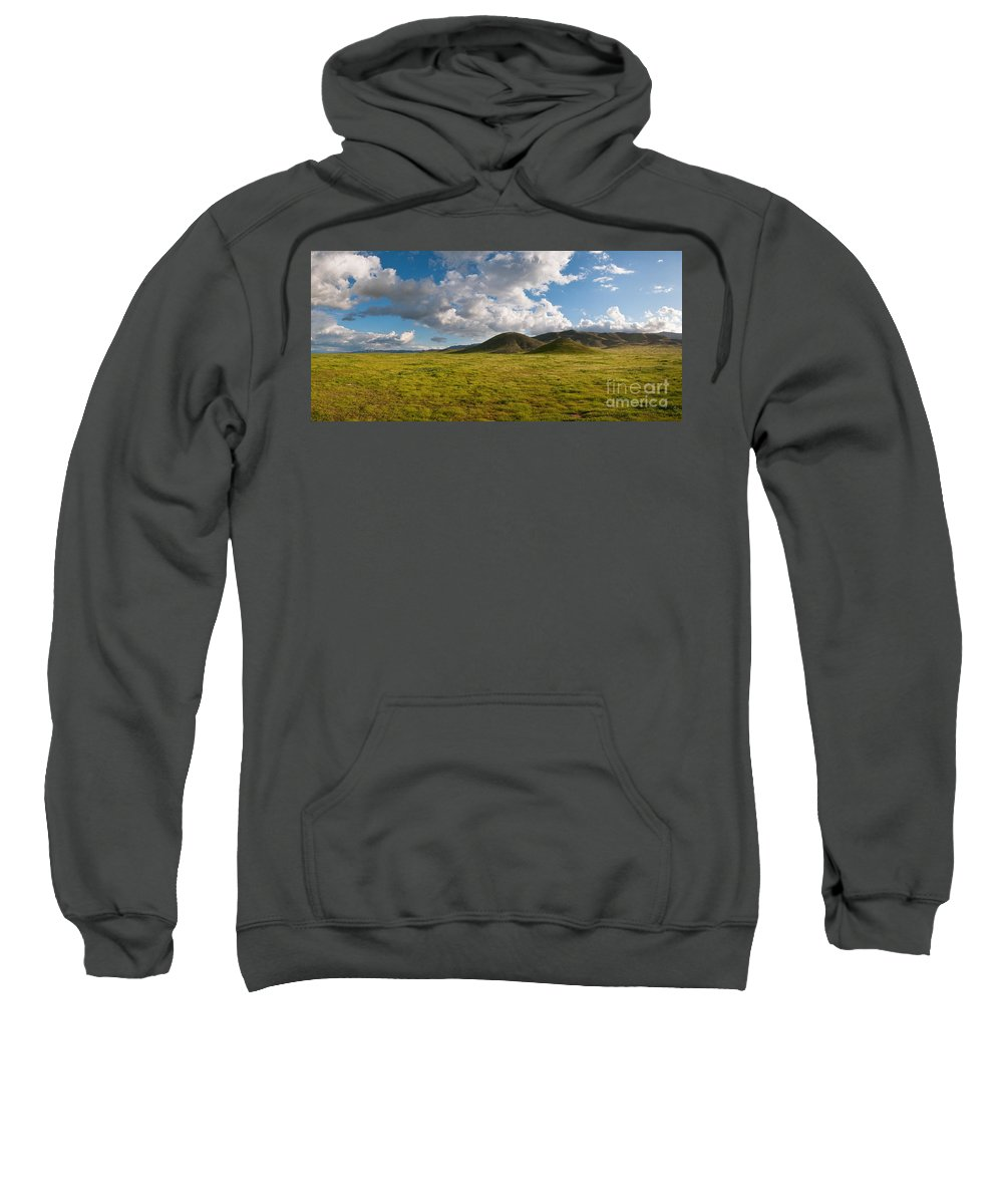 Carrizo Plain Sweatshirt featuring the photograph Carrizo Plain National Monument by Stuart Wilson and Photo Researchers