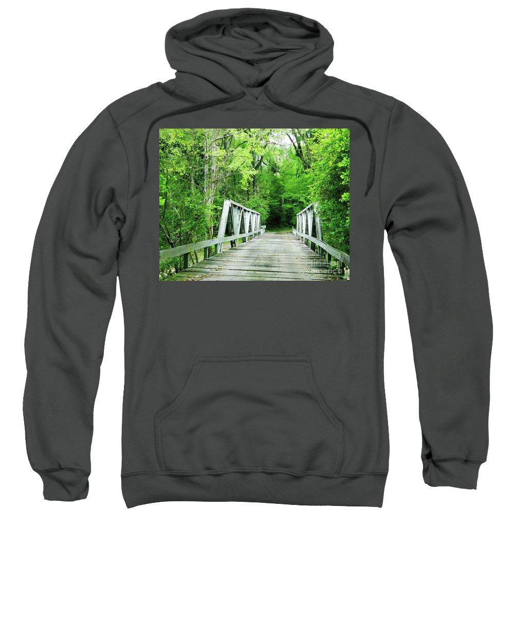 Plantation Sweatshirt featuring the photograph Catalpa Plantation Bridge by Lizi Beard-Ward