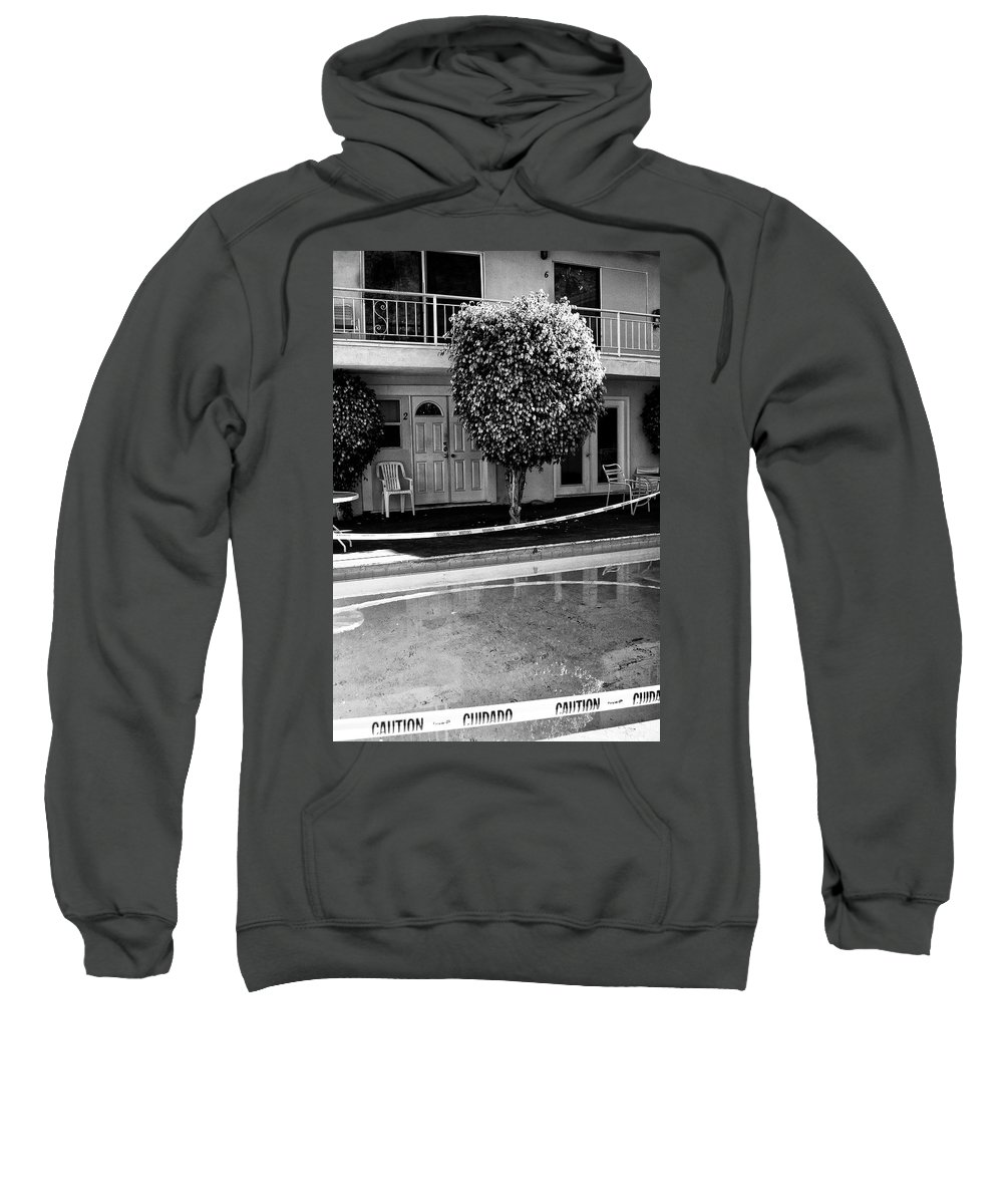 Pool Sweatshirt featuring the photograph Caution Palm Springs by William Dey