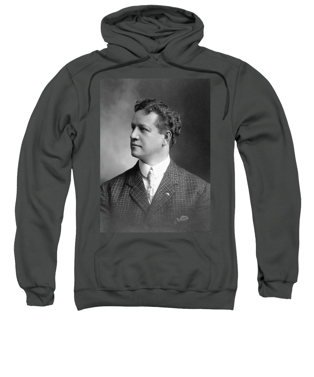 1900 Sweatshirt featuring the photograph Charles H. Ebbets (1859-1925) by Granger