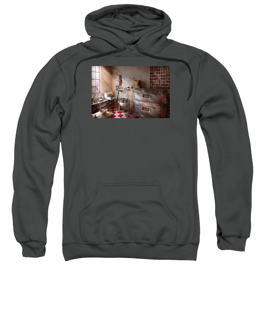Cook Sweatshirt featuring the photograph Chef - Baker - The Bread Oven by Mike Savad