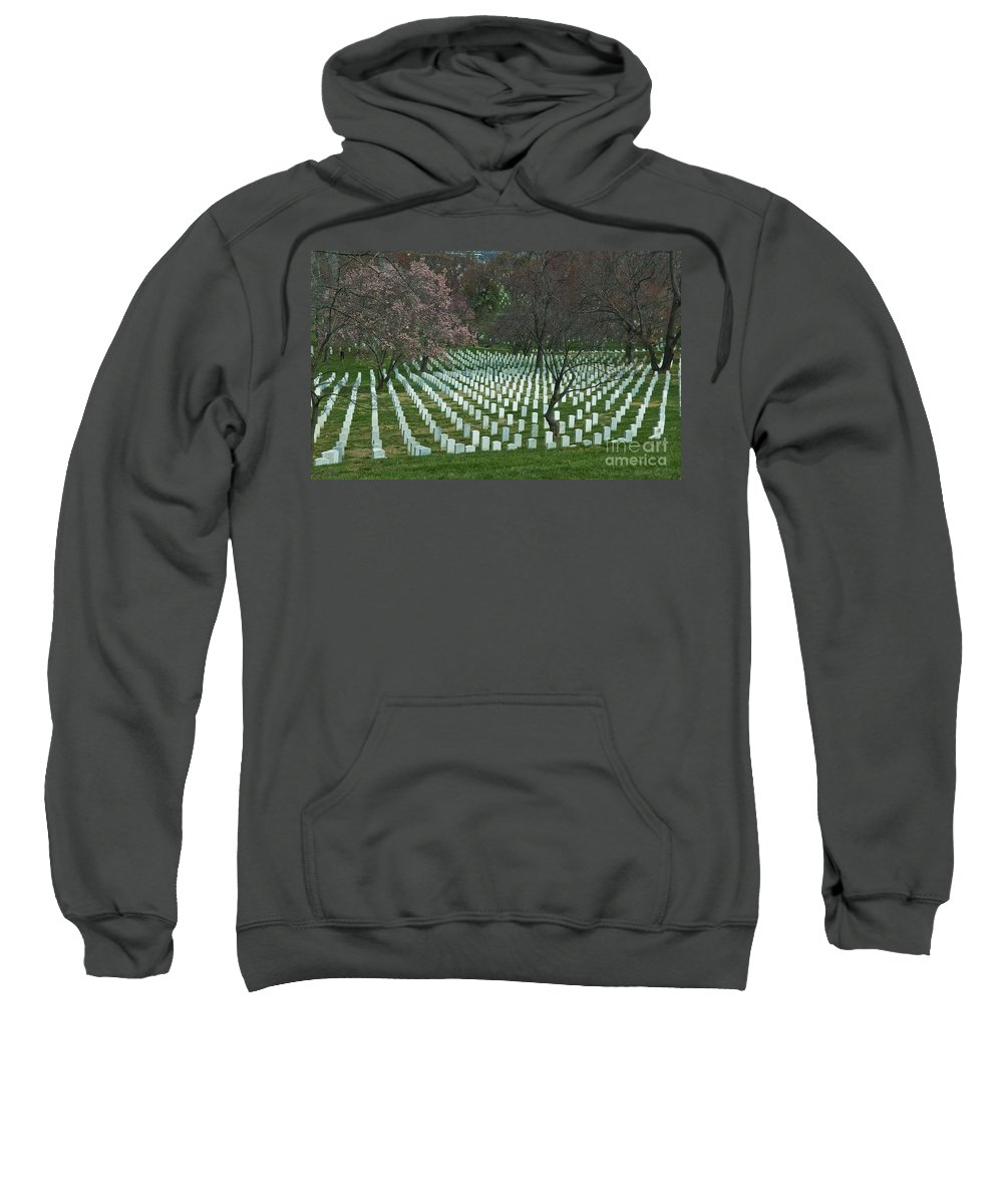 Arlington Sweatshirt featuring the photograph Cherry Trees Among The Fallen by Tim Mulina