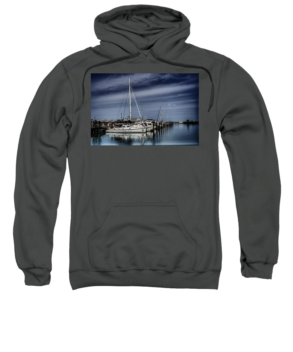 Boats Sweatshirt featuring the photograph Chicago Harbor by Scott Wood